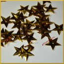 Cekiny gwiazdki wypukłe złote metaliczne