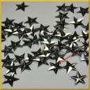 Cekiny gwiazdki wypukłe srebrne metaliczne 15mm