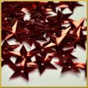 Cekiny gwiazdki wypukłe czerwone metaliczne 17g