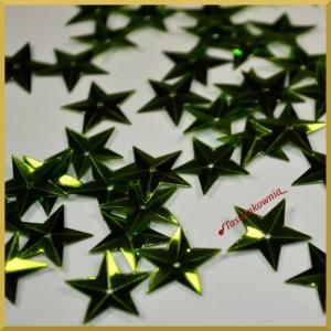 Cekiny gwiazdki wypukłe zielone metaliczne 5g