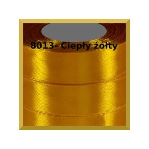 Tasiemka satynowa 25mm kolor 8013 żółty słoneczny