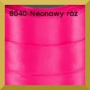 Tasiemka satynowa 6mm kolor 8040 neonowy róż