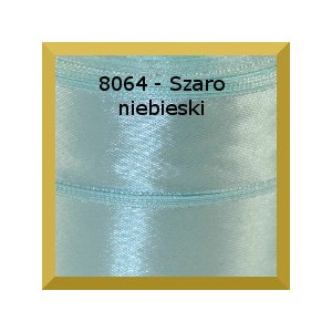 Tasiemka satynowa 25mm kolor 8064 szaroniebieski