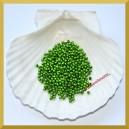 Perełki 3 mm zielone metaliczne