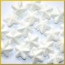Gwiazdki brokatowe białe 4cm/8szt.