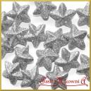 Gwiazdki brokatowe srebrne 4cm/8szt.