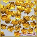 Cekiny liście klonu metaliczne złote 5g/50szt.