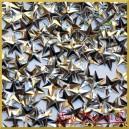 Cekiny gwiazdki wypukłe srebrne metaliczne 5g/420szt.