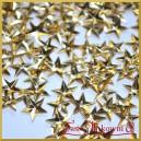 Cekiny gwiazdki wypukłe złote metaliczne 5g/420szt.