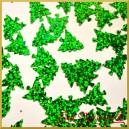 Cekiny choinki zielone laserowe 5g/110szt.
