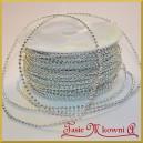 Perełki na sznurku srebrne 3mm/ 1mb