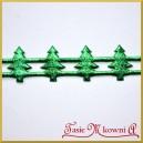 Choinki zielone metaliczne