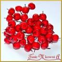 Rajskie jabłuszka mini czerwone na druciku 12szt.
