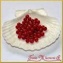 Perełki 8mm bordowe perłowe