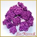 Brokatowe kuleczki na  gałązkach fioletowe 6szt.