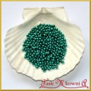 Perełki 4 mm zieleń butelkowa