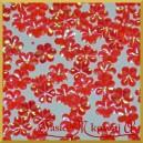 Cekiny stokrotki mini czerwone opalizujące 5g/240g