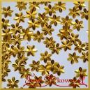 Cekiny kwiatuszki mini złote metaliczne 5g/160szt.