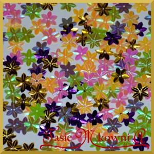 Cekiny kwiatuszki mini mix kolorów opalizujące 5g/160szt.