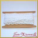 Koronka bawełniana biała ażurowy szlaczek z falbanką 19mm/4,5 mb - KRB29