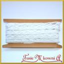 Koronka bawełniana biała ażurowy szlaczek w romby 20mm/4,5 mb - KRB15