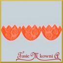 Pisanki satynowe neonowy pomarańcz