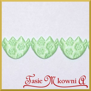 Pisanki satynowe jasno zielone