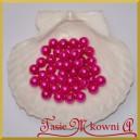 Perełki 10 mm amarantowe perłowe