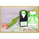 Frak lub suknia z wstążką zieloną - 1szt.