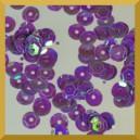 Cekiny kółka łamane 6mm 17g fioletowe opalizujące f41