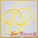 Sznurek satynowy - gorsetowy 2mm/4mb żółty