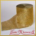 Taśma diamentowa ozdobna 12cm/0,5mb złota