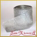 Taśma diamentowa ozdobna 12cm/0,5mb srebrna