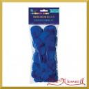 Pompony puszyste mix rozmiarów ciemno niebieskie