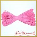 Sznurek dekoracyjny papierowy Różowy 45mb