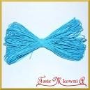 Sznurek dekoracyjny papierowy Błękitny 45mb