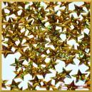 Cekiny gwiazdki wypukłe złote laserowe 5g