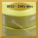 Tasiemka satynowa 25mm kolor 8010 żółty ecru