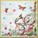 Serwetka do decoupage rower