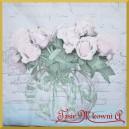 Serwetka do decoupage bukiet róż w wazonie