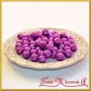 Brokatowe kulki małe fioletowe 1,5cm