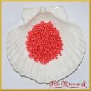 Perełki 3mm ciemny koral perłowy