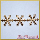 Aplikacje śnieżynki duże złote 2,3cm/0,5mb