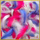 Piórka kolorowe - biało/niebiesko/różowe 10g
