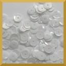 Cekiny kółka łamane 6mm białe matowe - b1