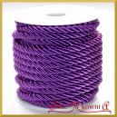 Sznurek oplatany fioletowy 7 mm / 13,5 mb