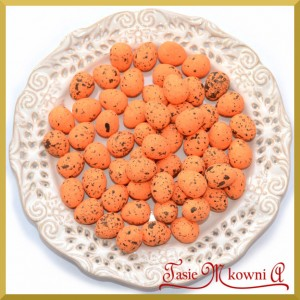 Jajka nakrapiane pomarańczowe 2cm /  100 szt