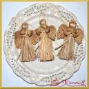 Anioł ze słomy  NATURALNY 12 cm 3236
