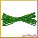 Wyciory metalizowane 20szt 30cm jasno zielone