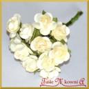 Różyczki papierowe 1cm 12szt. cytrynowe